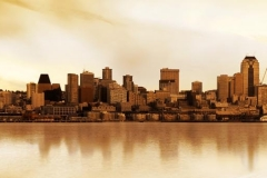 Скинали город на рассвете
