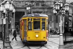 Скинали желтые трамваи