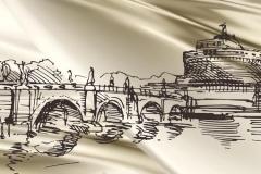 Скинали Италия Рим, рисунок