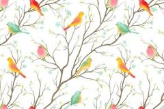 Скинали птицы на деревьях вектор