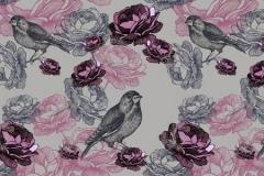 Скинали птицы и розы вектор