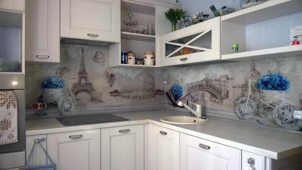 стеновая панель кухни в стиле прованс фото самые прекрасные